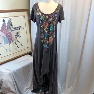 JOHNNY WAS Joy Love & Light Embroidered Dress M